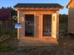 "Хозблок для дачи-001 ""ДУО"" с душем и туалетом размер 1,5х3,0 - 2"