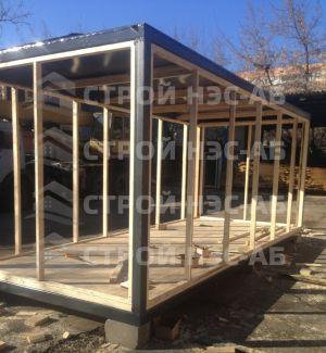 Дом на базе метал бытовки - Строй-НЭСАБ - №26