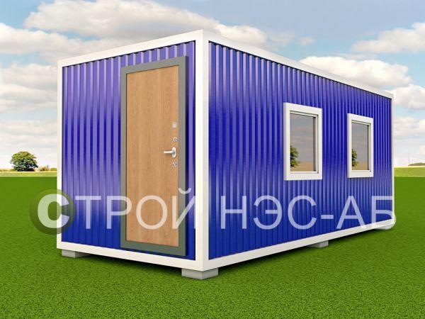 Блок-контейнер БКп-011 2,5х6,0 (тамб + доп окно) Мдф/Пвх
