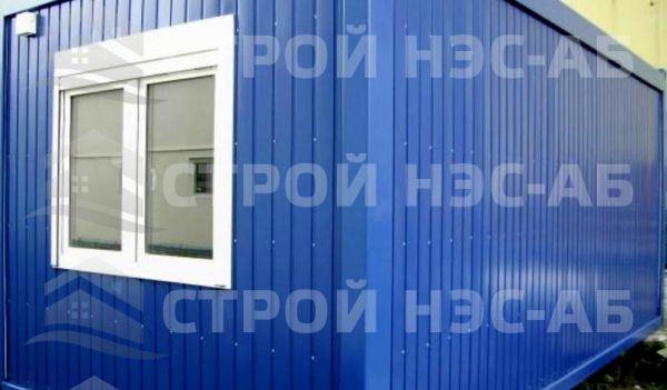Блок-контейнер БКс-02 2,5х4,5 (с тамбуром) бытовка из сэндвич панелей