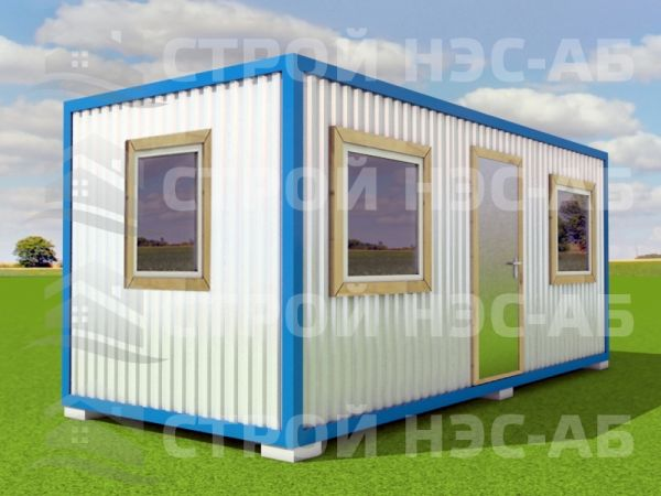 Блок-контейнер БКп-046 2,5х10,0 (расп + доп окно) Мдф/Пвх
