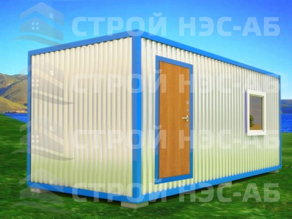 Блок-контейнер БКп-025 2,5х7,0 (тамб. №3) Мдф/Пвх