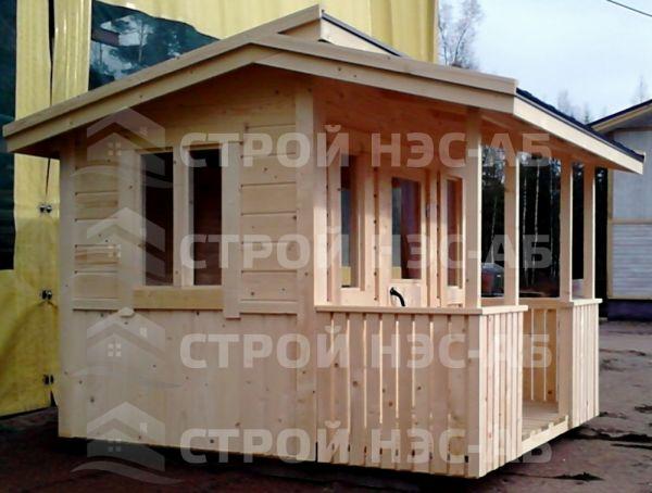 """Хозблок для дачи-022 с верандой """"Добротный"""" 4,0х3,0"""