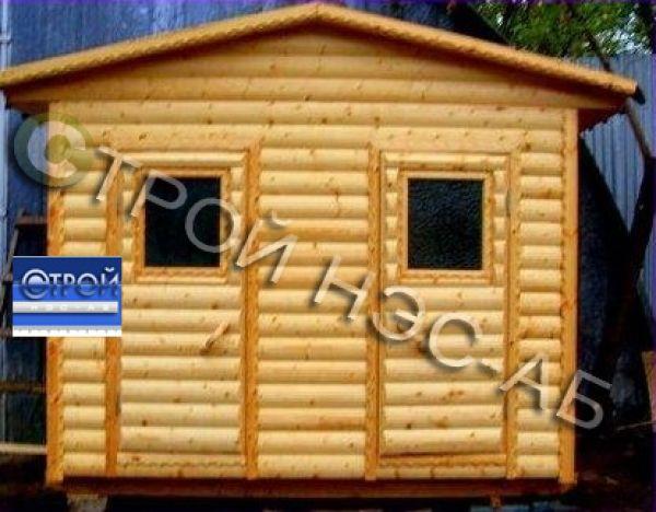 "Хозблок для дачи-001 ""ДУО"" с душем и туалетом размер 1,5х3,0"