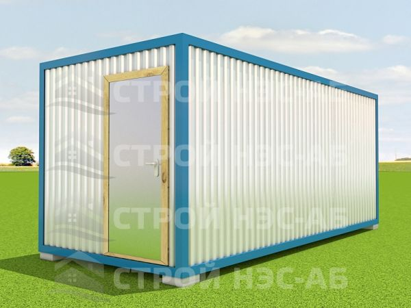 Блок-контейнер БКп-056 2,5х12,0 (тамб. № 2,3) Мдф/Пвх