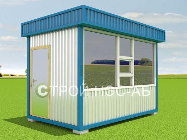 Блок-контейнер Киоск БК-002 размер 4,0х2,5 (сайдинг)