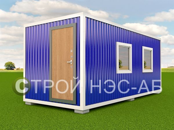 Блок-контейнер БКл-051 2,5х11,0 (тамб + доп окно) ЛДСП