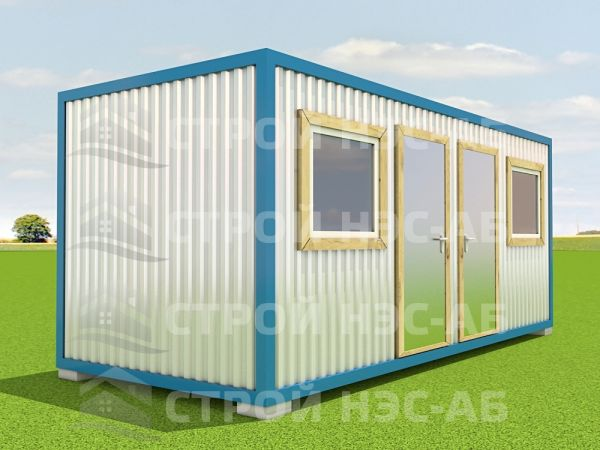 Блок-контейнер БКл-035 2,5х8,0 (2 входа,2 окна) ЛДСП