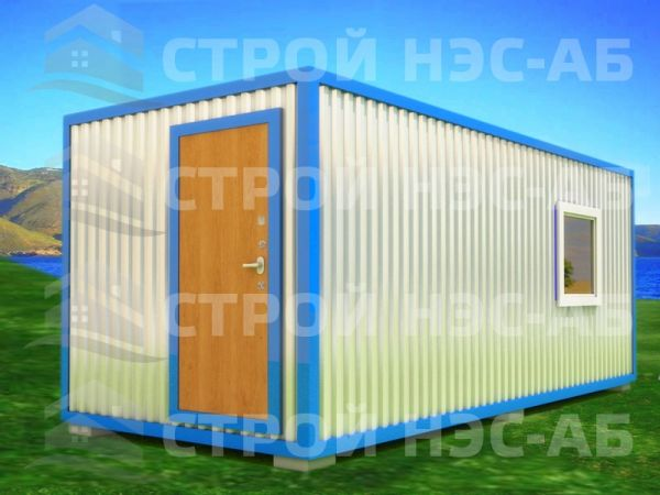 Блок-контейнер БКп-024 2,5х7,0 (тамб. № 2) Мдф/Пвх
