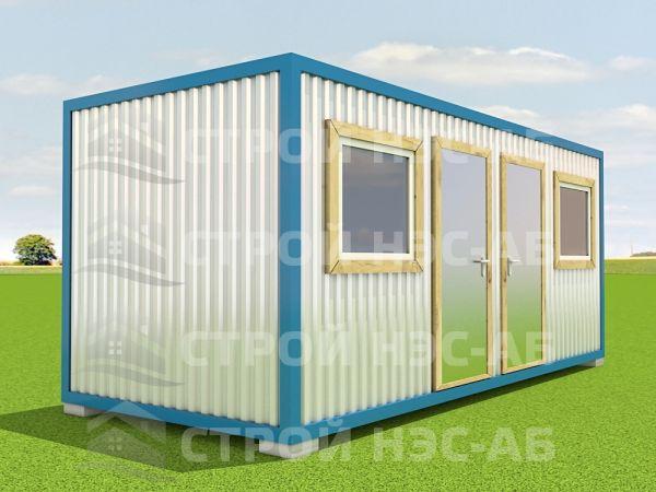 Блок-контейнер БКп-018 2,5х6,0 (2 входа) Мдф/Пвх