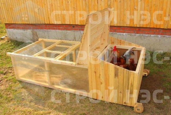 Домик для кур - 022 2,0х0,8