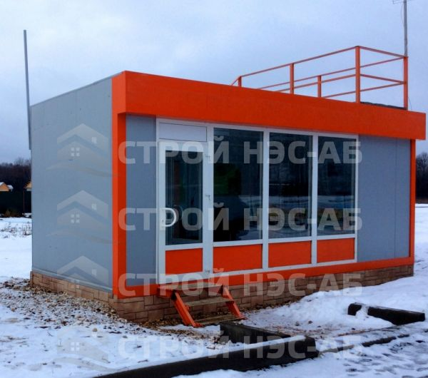 Блок-контейнер БКс-14 размер 3,1х6,2 (без тамбура) бытовка из сэндвич панелей