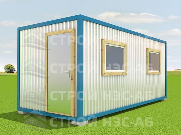 Блок-контейнер БКп-039 2,5х9,0 (с доп.окном) Мдф/Пвх
