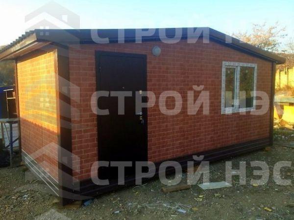 Блок-контейнер БКс-10 размер 2,3х5,7х2,8 бытовка из сэндвич панелей