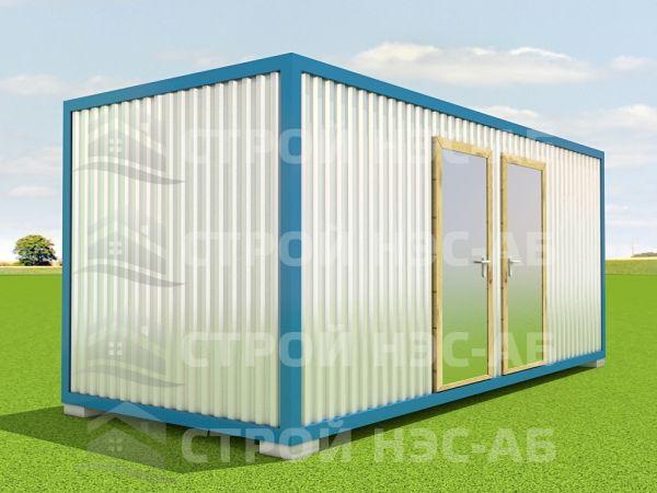 Блок-контейнер БКо-047 2,5х10,0 (2 вх, 3 окна) Двп