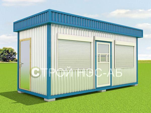 Блок-контейнер Киоск БК-004 размер 6,0х2,5х2,5 (профлист)